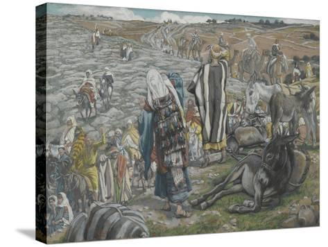 On Return from Jerusalem it Is Noticed That Jesus Is Lost from 'The Life of Our Lord Jesus Christ'-James Jacques Joseph Tissot-Stretched Canvas Print