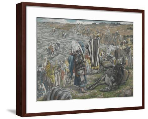 On Return from Jerusalem it Is Noticed That Jesus Is Lost from 'The Life of Our Lord Jesus Christ'-James Jacques Joseph Tissot-Framed Art Print