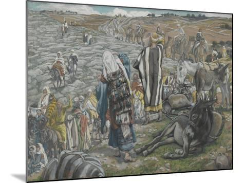On Return from Jerusalem it Is Noticed That Jesus Is Lost from 'The Life of Our Lord Jesus Christ'-James Jacques Joseph Tissot-Mounted Giclee Print
