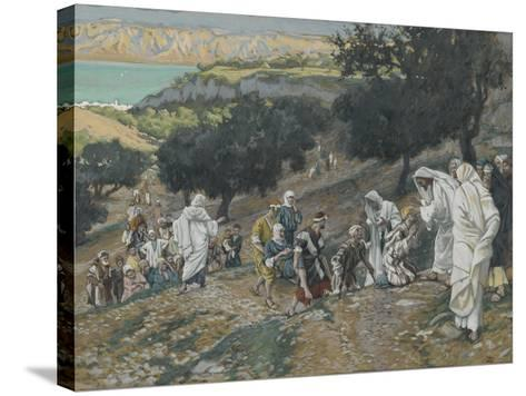 Jesus Heals the Blind and Lame on the Mountain from 'The Life of Our Lord Jesus Christ'-James Jacques Joseph Tissot-Stretched Canvas Print