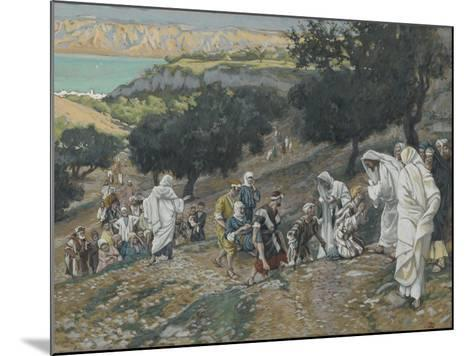 Jesus Heals the Blind and Lame on the Mountain from 'The Life of Our Lord Jesus Christ'-James Jacques Joseph Tissot-Mounted Giclee Print