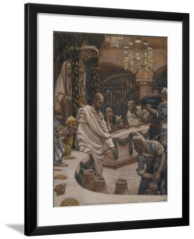 The Marriage at Cana from 'The Life of Our Lord Jesus Christ'-James Jacques Joseph Tissot-Framed Art Print