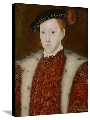 Portrait of Edward VI-Guillaume Scrots-Stretched Canvas Print