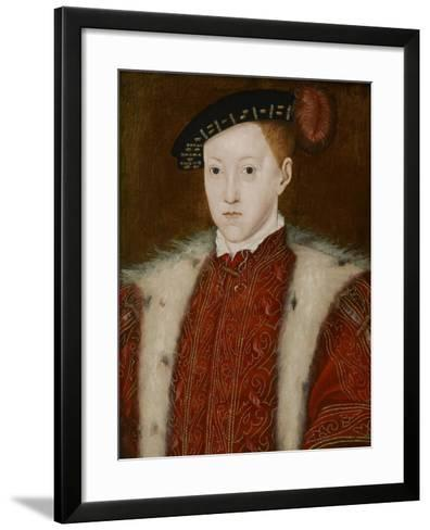 Portrait of Edward VI-Guillaume Scrots-Framed Art Print