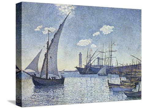 Port De Cette, Les Tartanes, 1892-Theo van Rysselberghe-Stretched Canvas Print