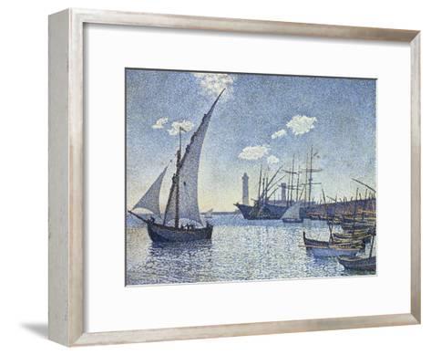 Port De Cette, Les Tartanes, 1892-Theo van Rysselberghe-Framed Art Print