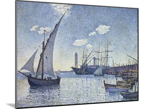 Port De Cette, Les Tartanes, 1892-Theo van Rysselberghe-Mounted Giclee Print