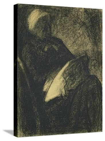 Embroiderer, 1882-Georges Seurat-Stretched Canvas Print