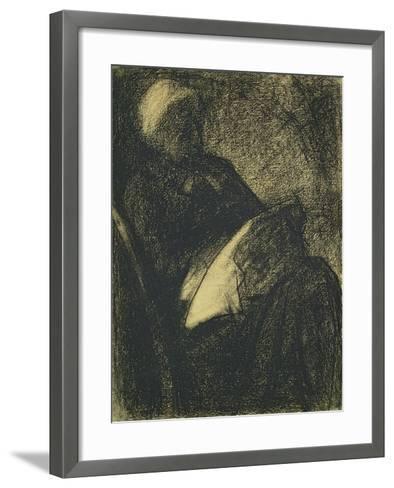 Embroiderer, 1882-Georges Seurat-Framed Art Print