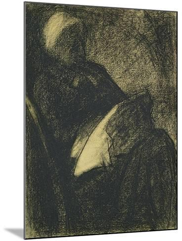 Embroiderer, 1882-Georges Seurat-Mounted Giclee Print
