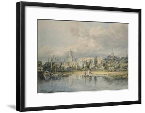 South View of Christ Church from the Meadows, 19th Century-J^ M^ W^ Turner-Framed Art Print