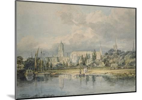 South View of Christ Church from the Meadows, 19th Century-J^ M^ W^ Turner-Mounted Giclee Print