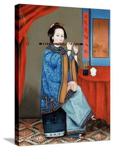 Portrait of a Court Lady Seated--Stretched Canvas Print