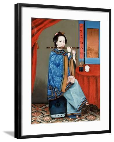 Portrait of a Court Lady Seated--Framed Art Print