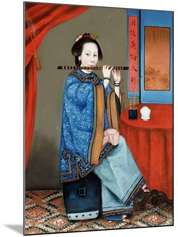 Portrait of a Court Lady Seated--Mounted Giclee Print