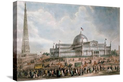 Exterior View of the New York Crystal Palace, 1853--Stretched Canvas Print