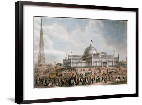 Exterior View of the New York Crystal Palace, 1853--Framed Art Print