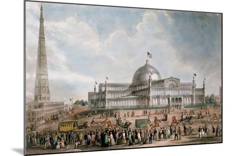 Exterior View of the New York Crystal Palace, 1853--Mounted Giclee Print
