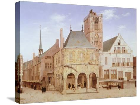 Old City Hall in Amsterdam by Pieter Saenredam, Netherlands, 17th Century Oil on Board--Stretched Canvas Print