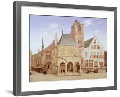 Old City Hall in Amsterdam by Pieter Saenredam, Netherlands, 17th Century Oil on Board--Framed Art Print