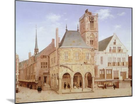 Old City Hall in Amsterdam by Pieter Saenredam, Netherlands, 17th Century Oil on Board--Mounted Giclee Print