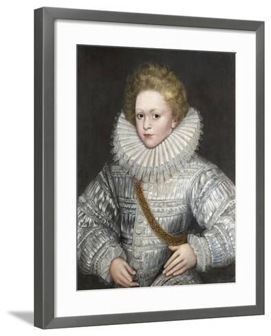 Portrait of a Boy in White--Framed Art Print