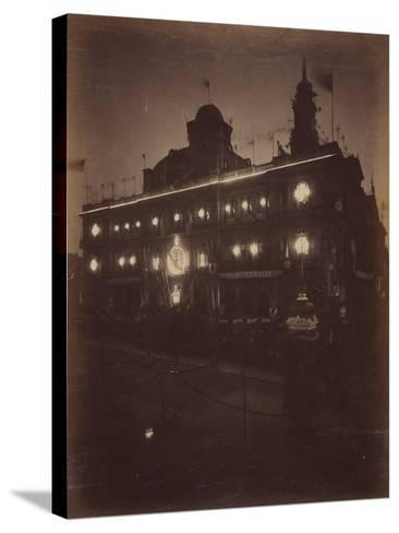 Electric Light Decorations for Federation Celebrations, Sydney, 1901--Stretched Canvas Print