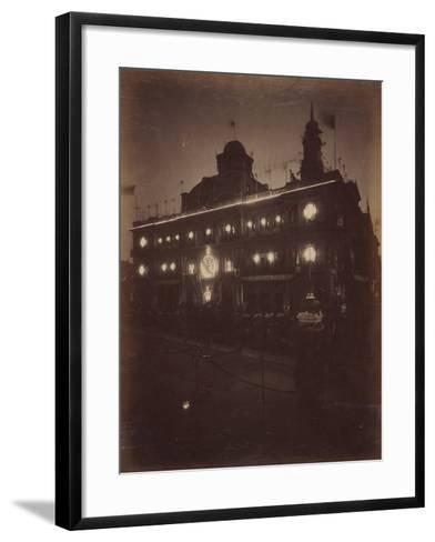 Electric Light Decorations for Federation Celebrations, Sydney, 1901--Framed Art Print