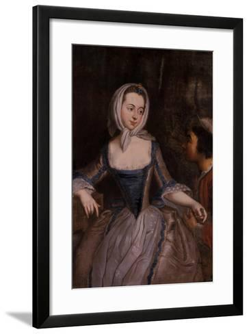 Young Women and a Knave--Framed Art Print
