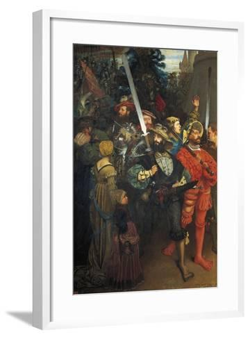 Departure of Landsknechts, 1868--Framed Art Print