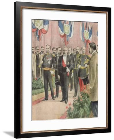 The Arrival of President Loubet in Russia for a State Visit, Cover of 'Le Petit Journal'--Framed Art Print