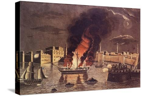 Burning of the Frigate 'Philadelphia', in the Harbour of Tripoli on 16th February 1804--Stretched Canvas Print