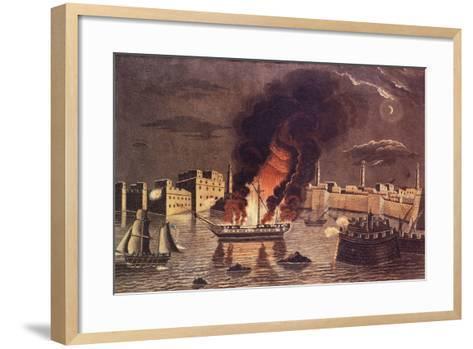 Burning of the Frigate 'Philadelphia', in the Harbour of Tripoli on 16th February 1804--Framed Art Print