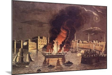 Burning of the Frigate 'Philadelphia', in the Harbour of Tripoli on 16th February 1804--Mounted Giclee Print