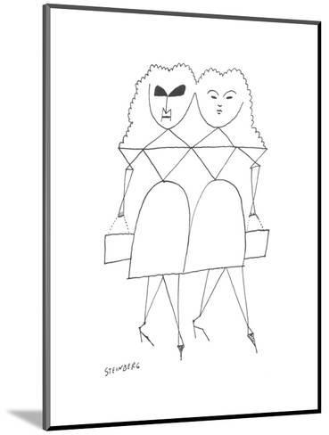 New Yorker Cartoon-Saul Steinberg-Mounted Premium Giclee Print