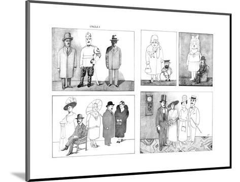 New Yorker Cartoon-Saul Steinberg-Mounted Premium Giclee Print