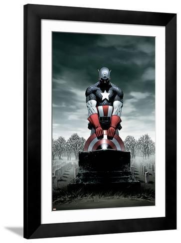 Captain America No.4 Cover: Captain America-Steve Epting-Framed Art Print