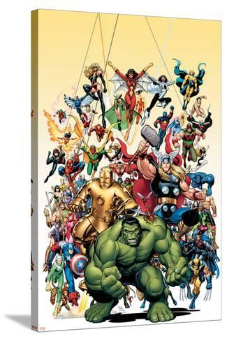 Avengers Classics No.1 Cover: Hulk-Arthur Adams-Stretched Canvas Print