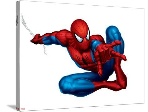 Spider-Man Shooting--Stretched Canvas Print