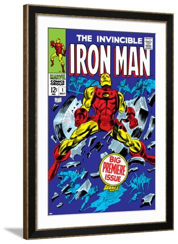 The Invincible Iron Man No.1 Cover: Iron Man-Gene Colan-Framed Art Print