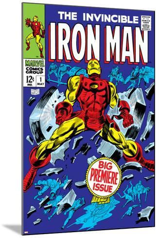 The Invincible Iron Man No.1 Cover: Iron Man-Gene Colan-Mounted Poster