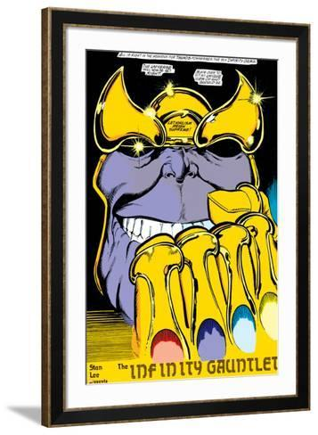 Infinity Gauntlet No.2 Headshot: Thanos-George Perez-Framed Art Print