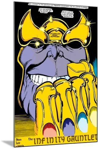 Infinity Gauntlet No.2 Headshot: Thanos-George Perez-Mounted Poster