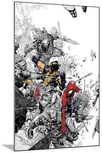 The Amazing Spider-Man No.555 Cover: Spider-Man and Wolverine-Chris Bachalo-Mounted Poster