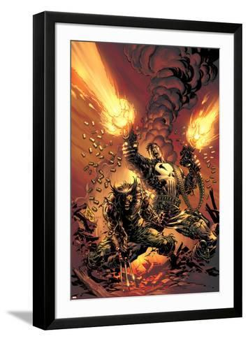 Wolverine Punisher No.1 Cover: Wolverine and Punisher-Mike Deodato-Framed Art Print