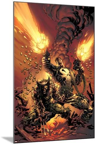 Wolverine Punisher No.1 Cover: Wolverine and Punisher-Mike Deodato-Mounted Poster