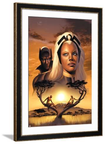 Storm No.1 Cover: Storm and Black Panther-David Yardin-Framed Art Print