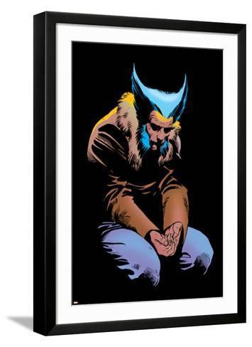 Wolverine No.3 Cover: Wolverine and Logan Flying-Frank Miller-Framed Art Print