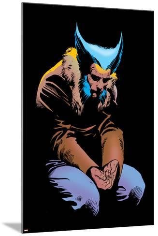 Wolverine No.3 Cover: Wolverine and Logan Flying-Frank Miller-Mounted Poster