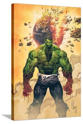 Incredible Hulk No.1 Cover: Hulk Standing-Marc Silvestri-Stretched Canvas Print
